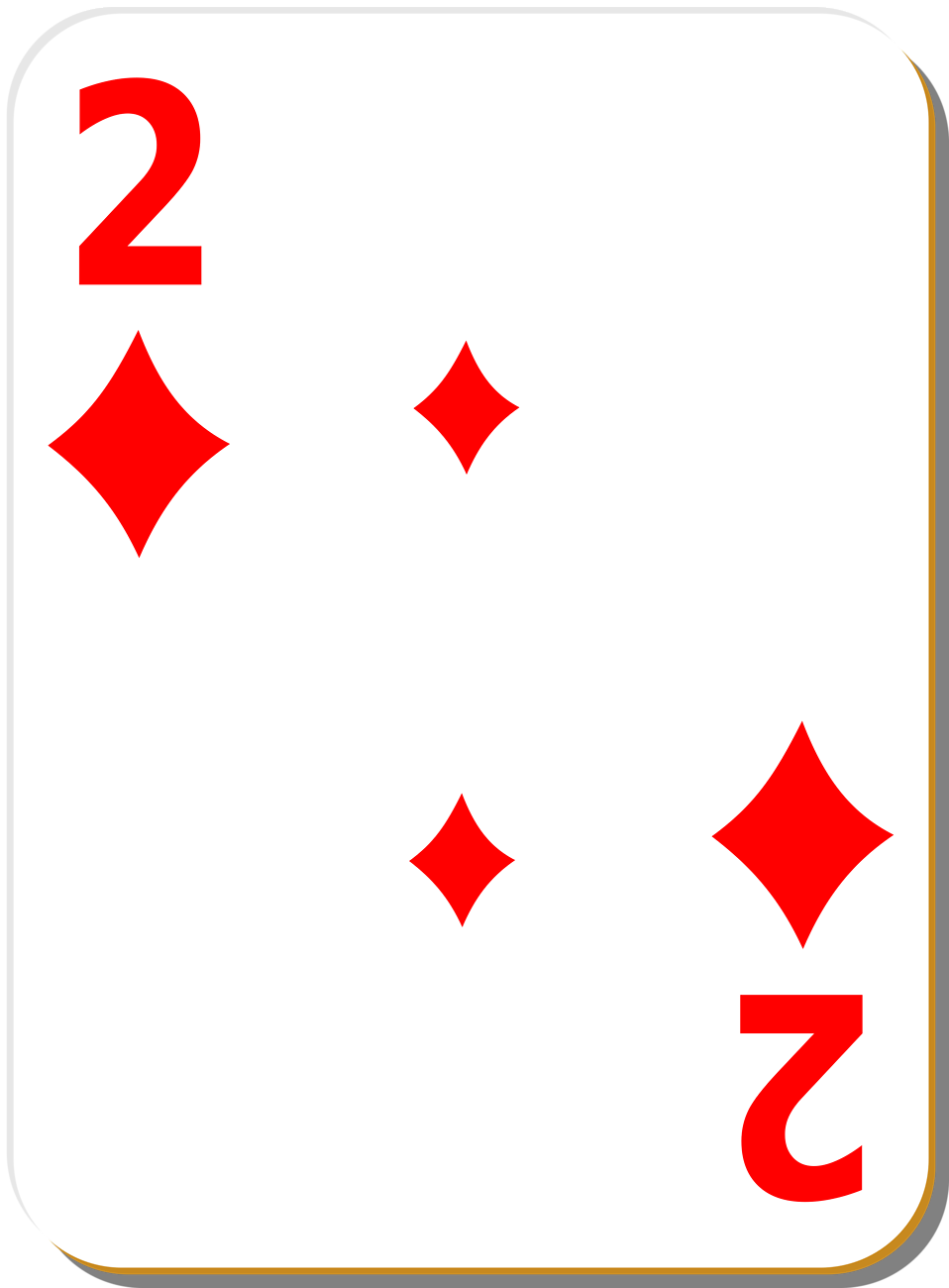 Illustration of a Two of Diamonds playing card : Free Stock Photo
