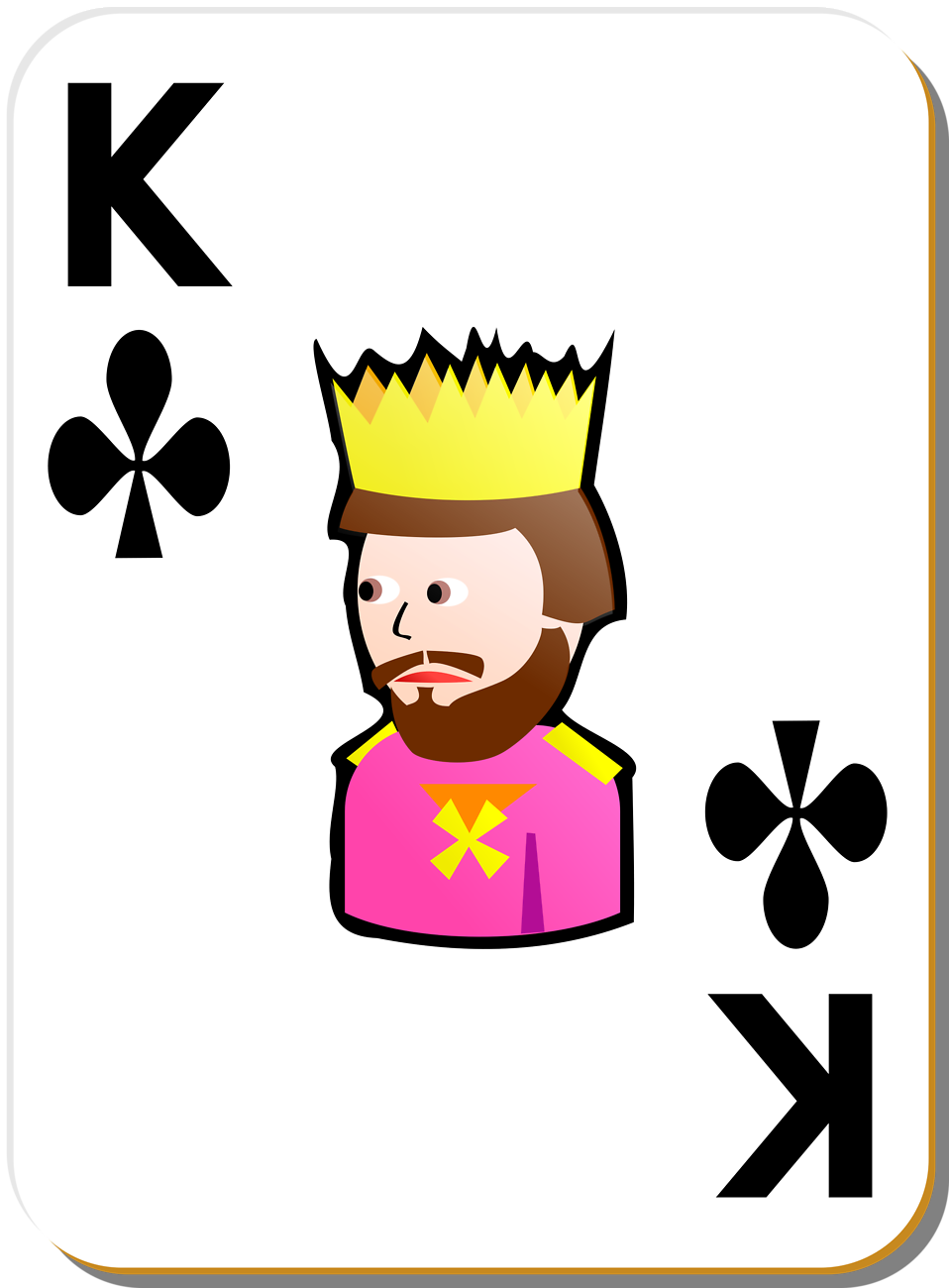 Illustration of a King of Clubs playing card : Free Stock Photo