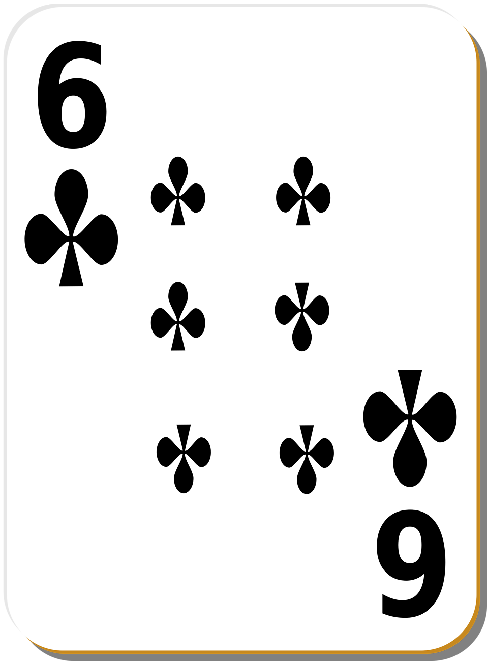 Free Stock Photo: Illustration of a Six of Clubs playing card with a ...