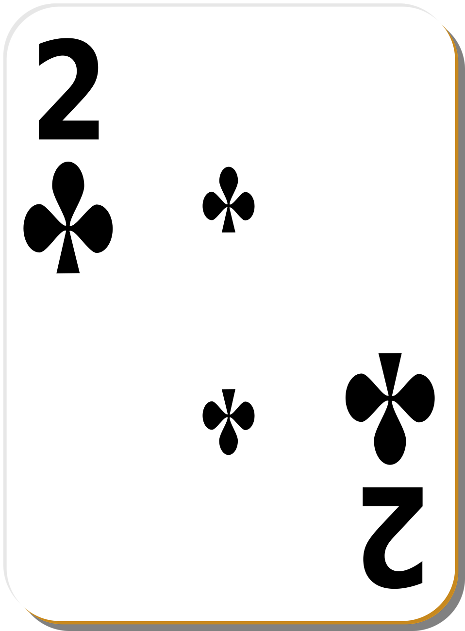 Illustration of a Two of Clubs playing card : Free Stock Photo