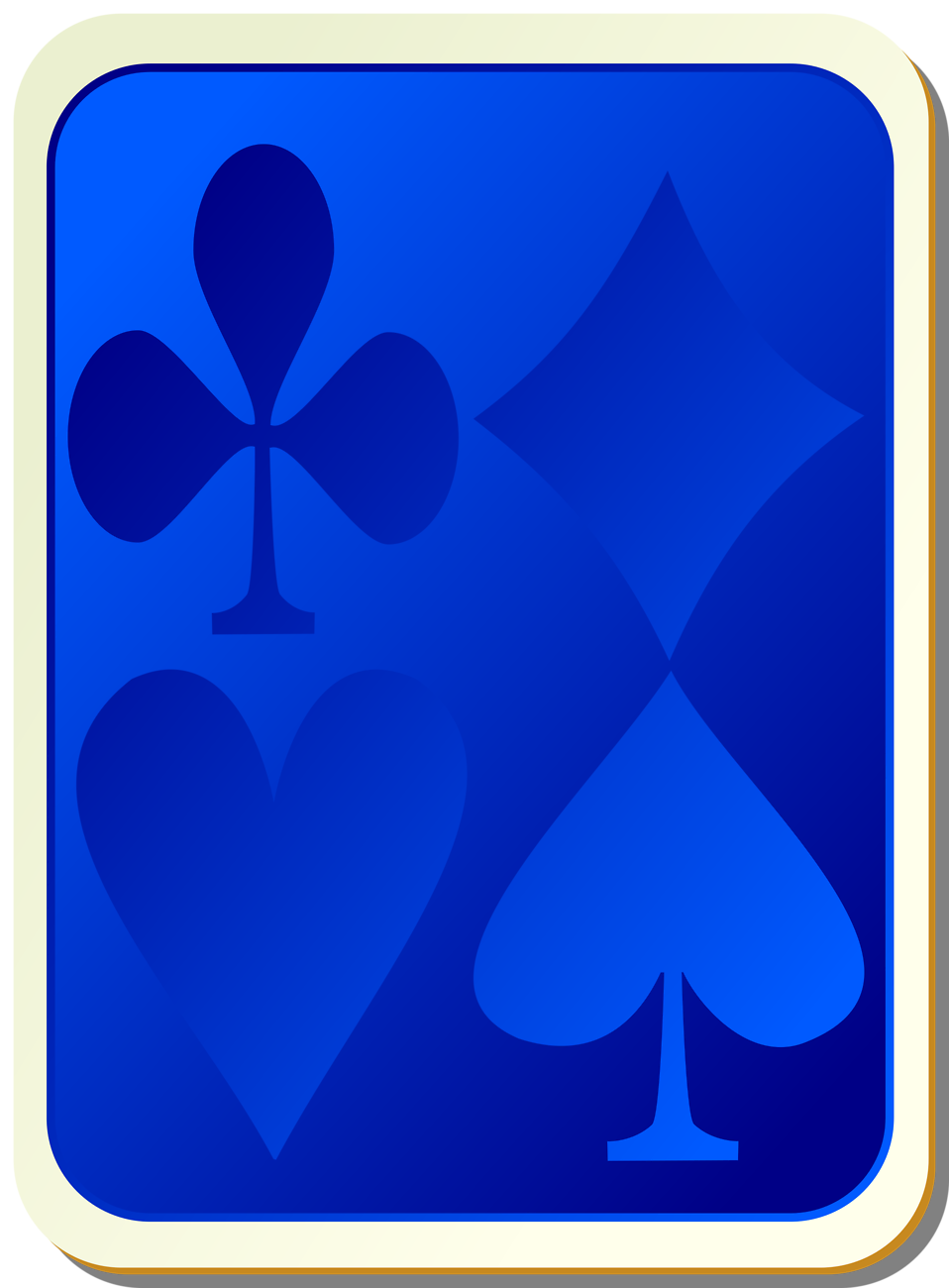 Illustration of a card deck back : Free Stock Photo