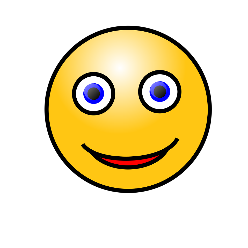 Illustration of a yellow smiley face with a transparent background.