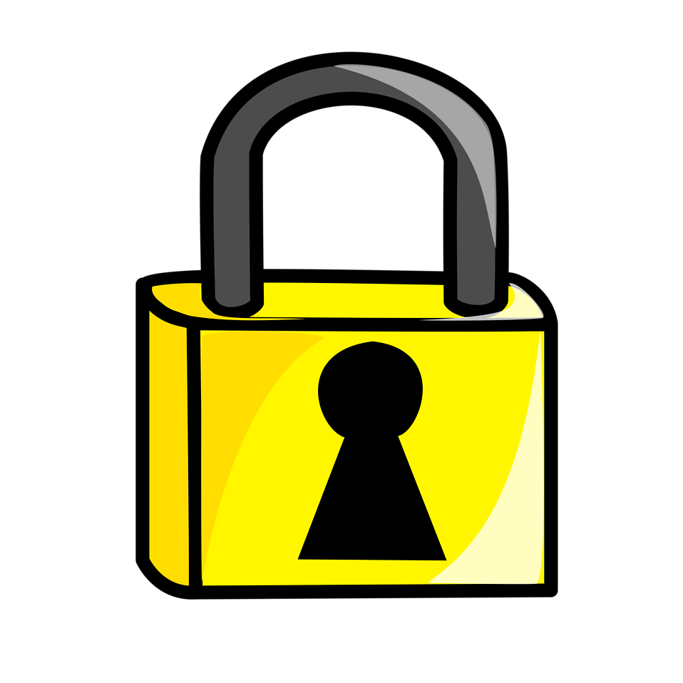 Lock | Free Stock Photo | Illustration of a cartoon padlock | # 15568: www.freestockphotos.biz/stockphoto/15568