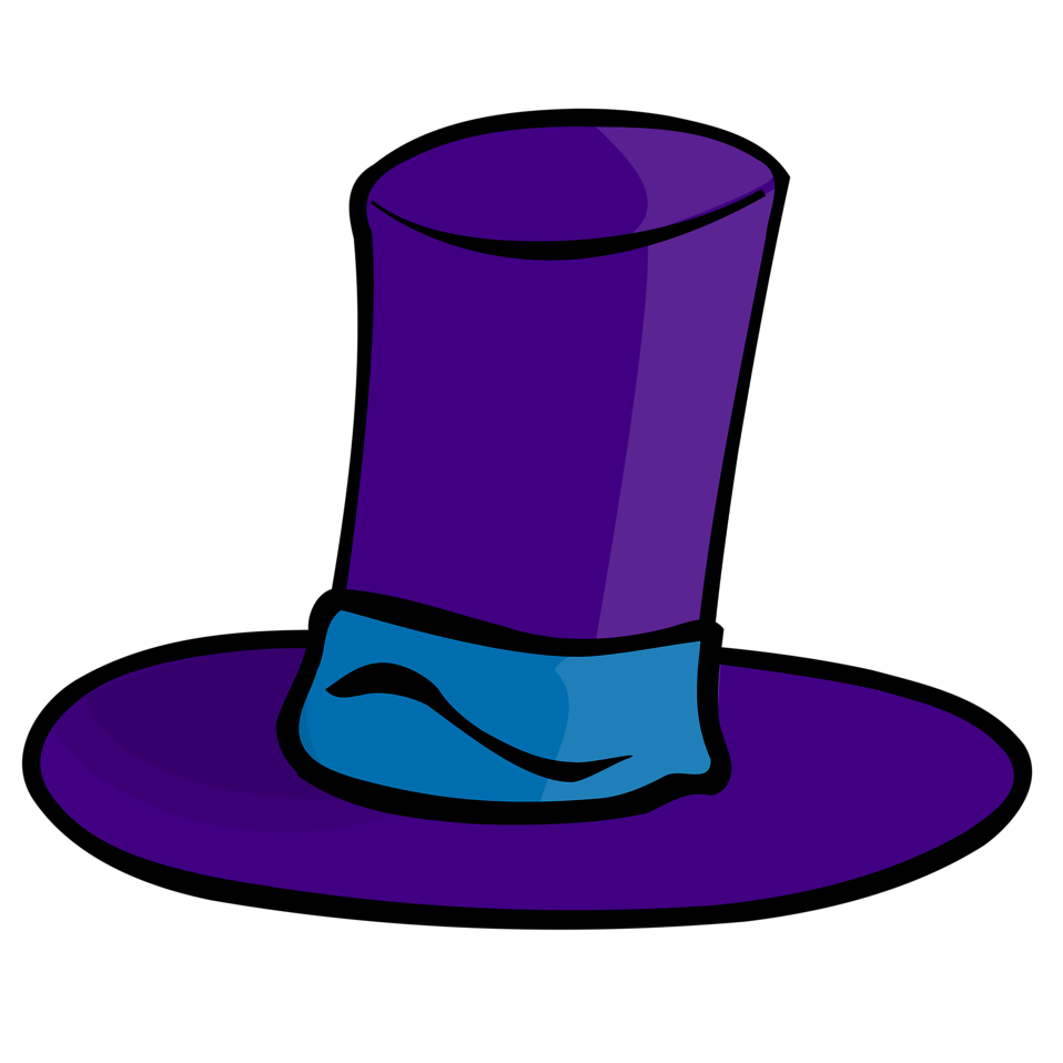 hat free stock photo illustration of a blue cartoon top hat clip art free top hat clip art cut out