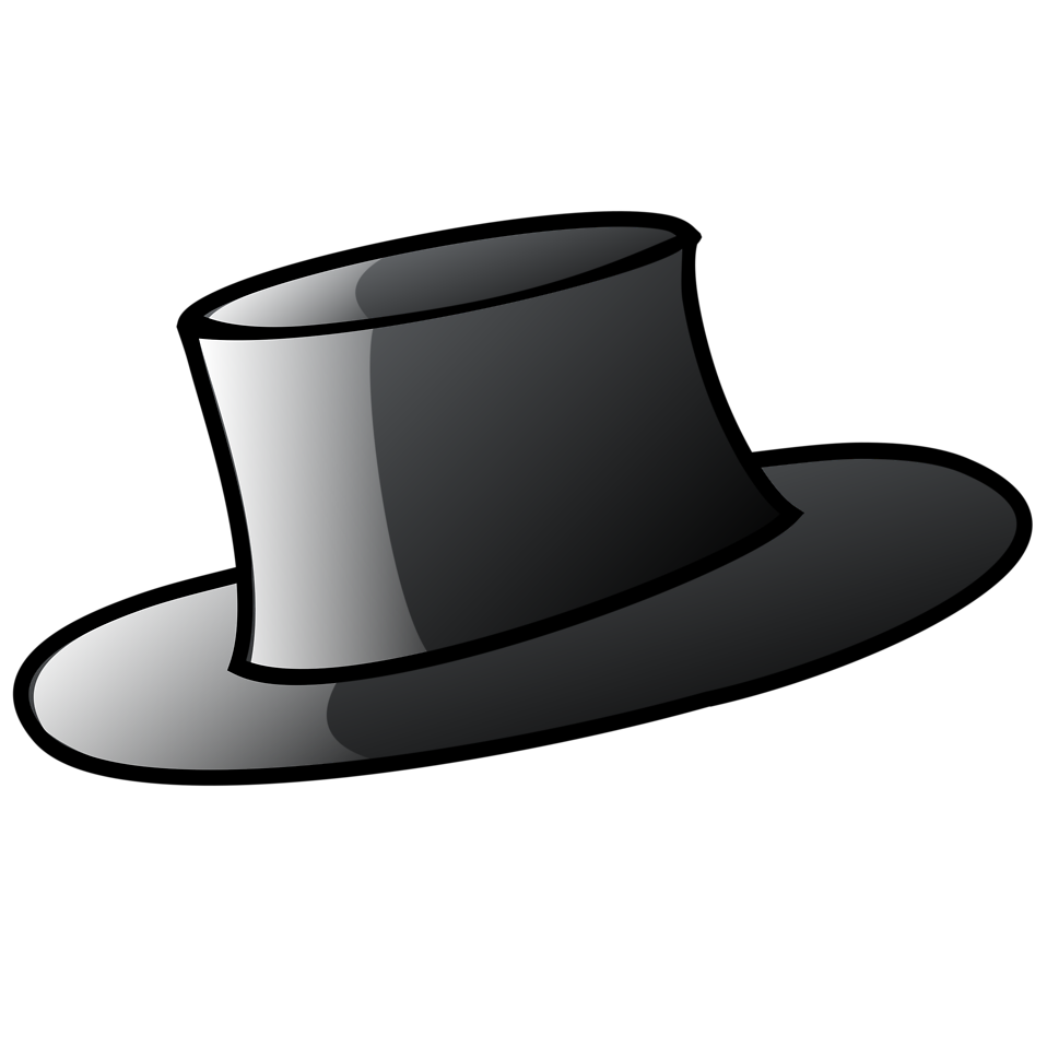 Hat. Illustration of a black ... a8bc9f990cd