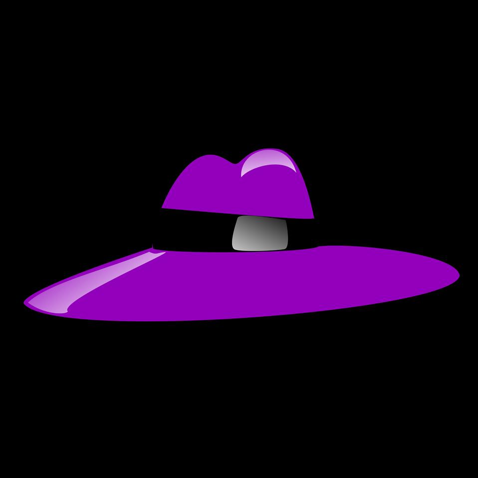 Illustration of a purple cartoon hat : Free Stock Photo