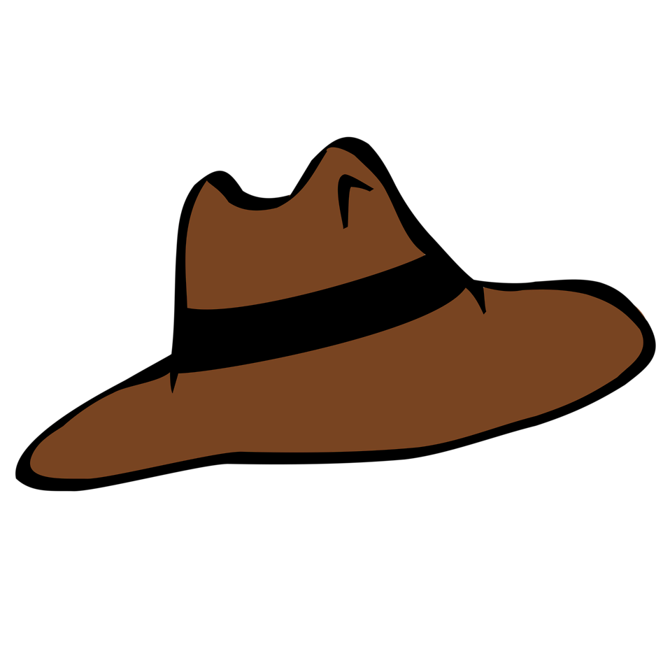 Illustration of a brown cartoon hat : Free Stock Photo