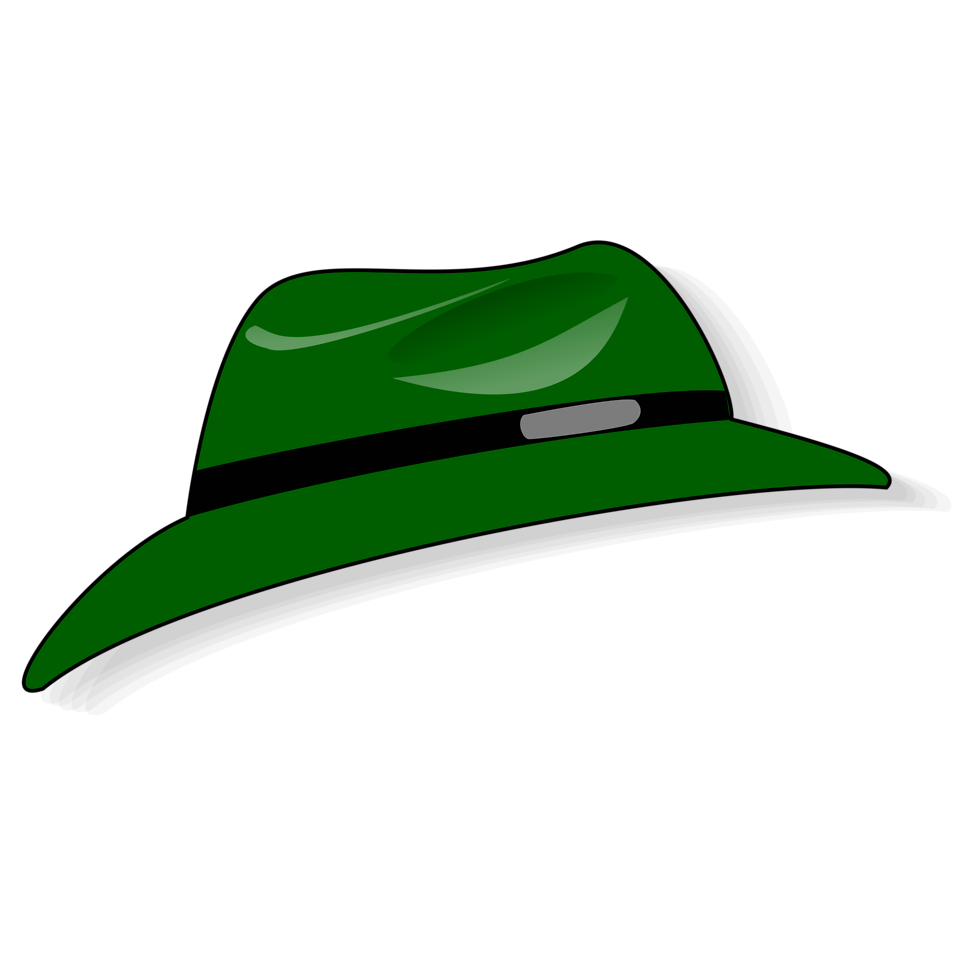 Illustration of a green cartoon hat : Free Stock Photo