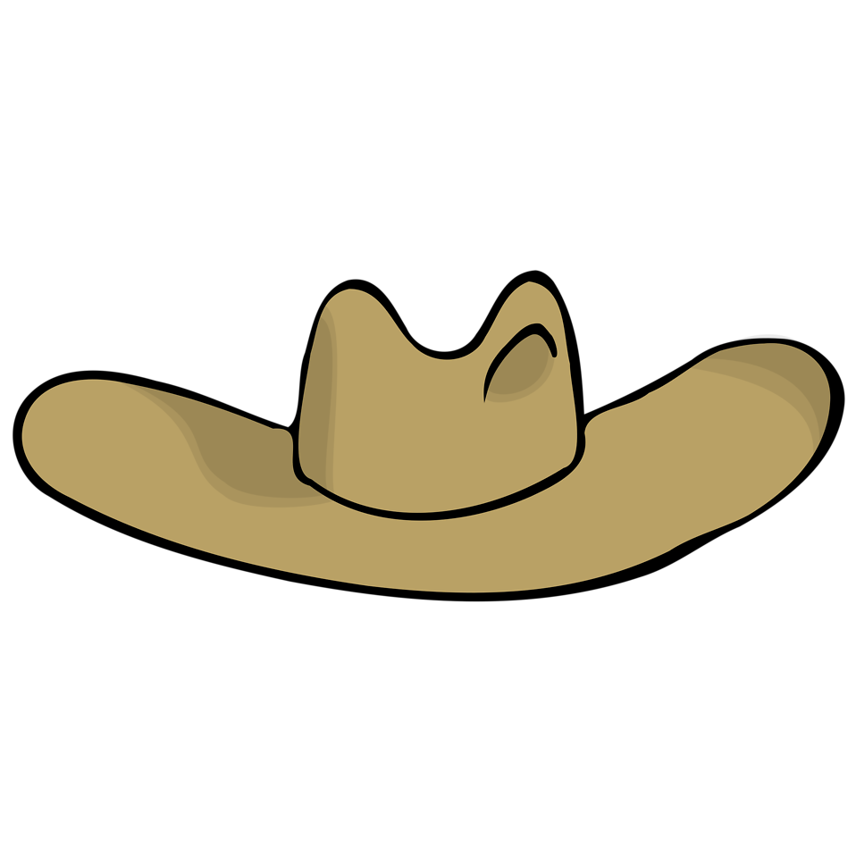 Illustration of a tan cartoon hat : Free Stock Photo