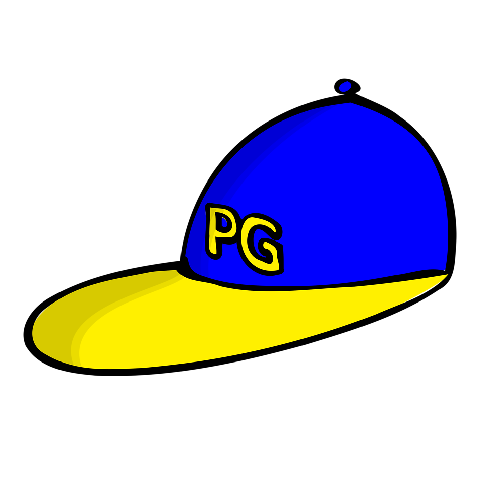 Illustration of a blue cartoon hat : Free Stock Photo