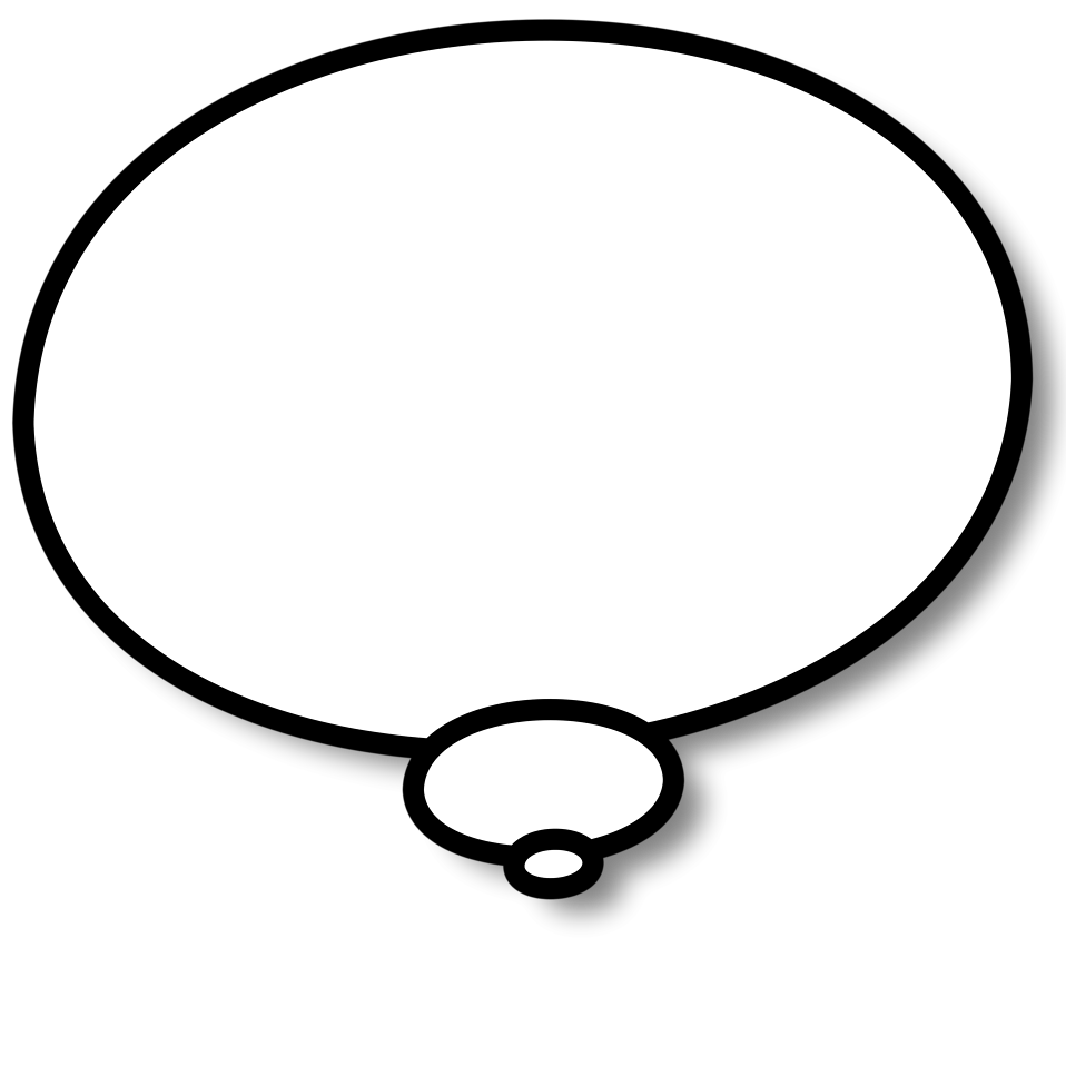 Illustration of a cartoon speech bubble : Free Stock Photo