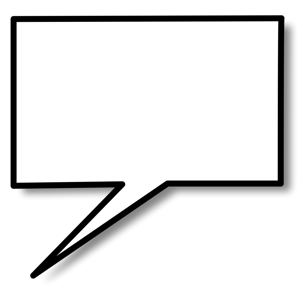 Illustration of a cartoon speech bubble with a transparent background.