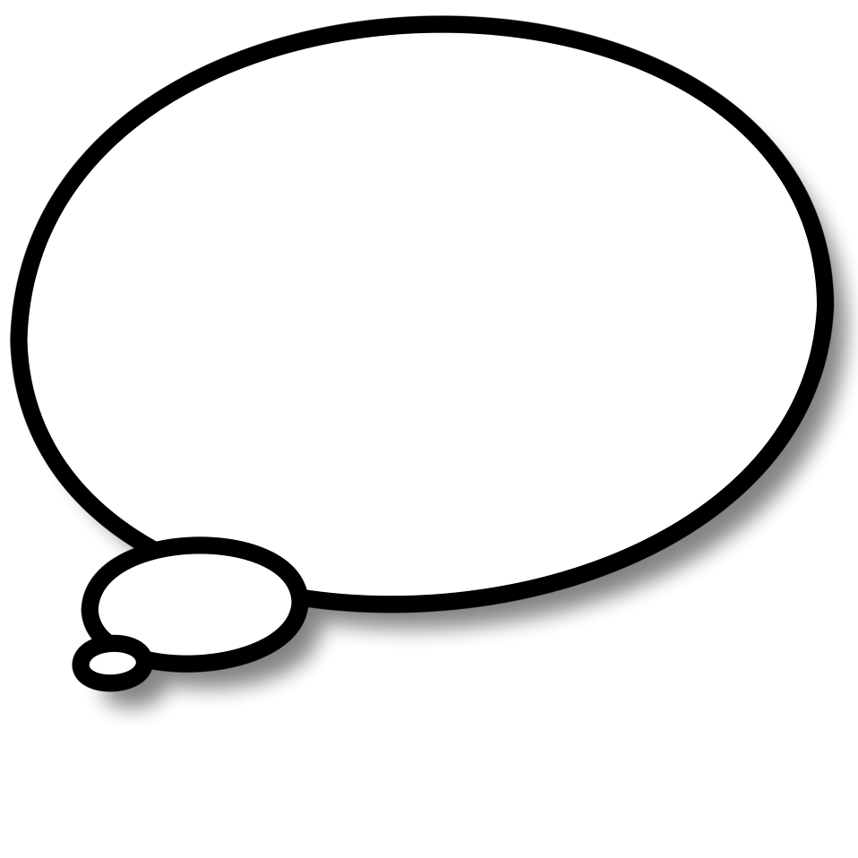 Illustration of a cartoon speech bubble : Free Stock Photo