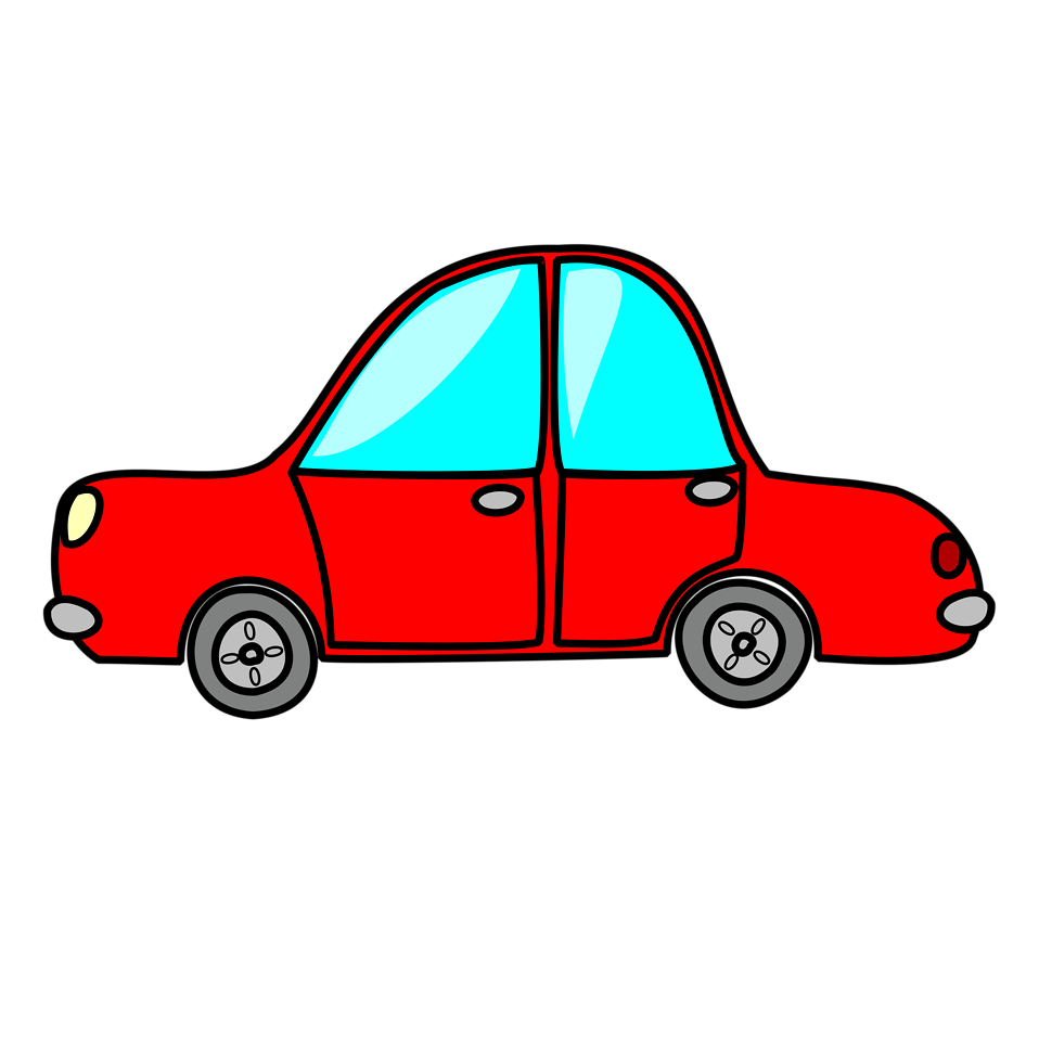 Illustration of a red cartoon car : Free Stock Photo
