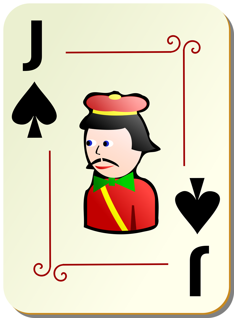 Illustration of a Jack of Spades playing card : Free Stock Photo