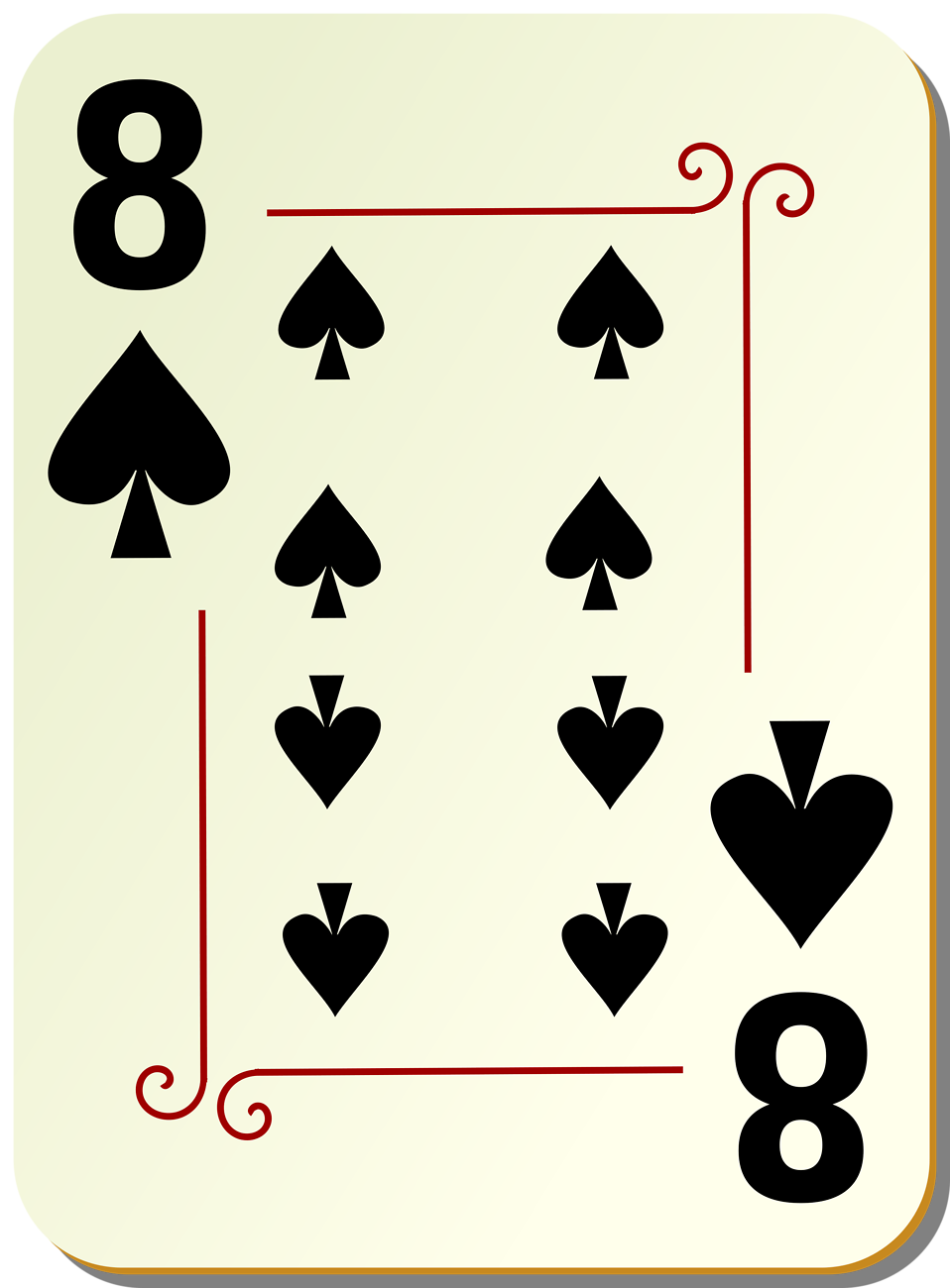 Illustration of an Eight of Spades playing card : Free Stock Photo