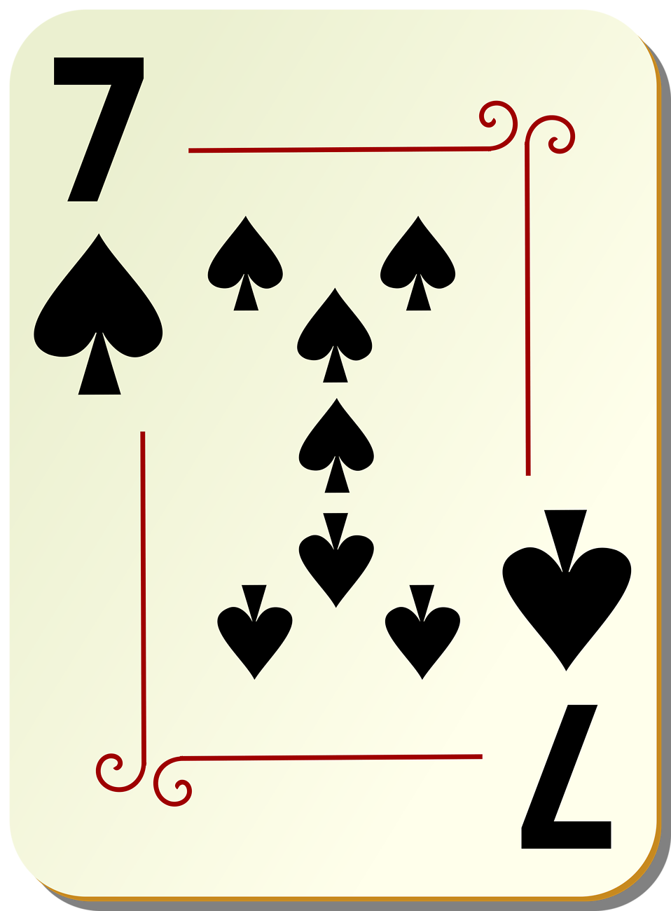 Illustration of a Seven of Spades playing card : Free Stock Photo