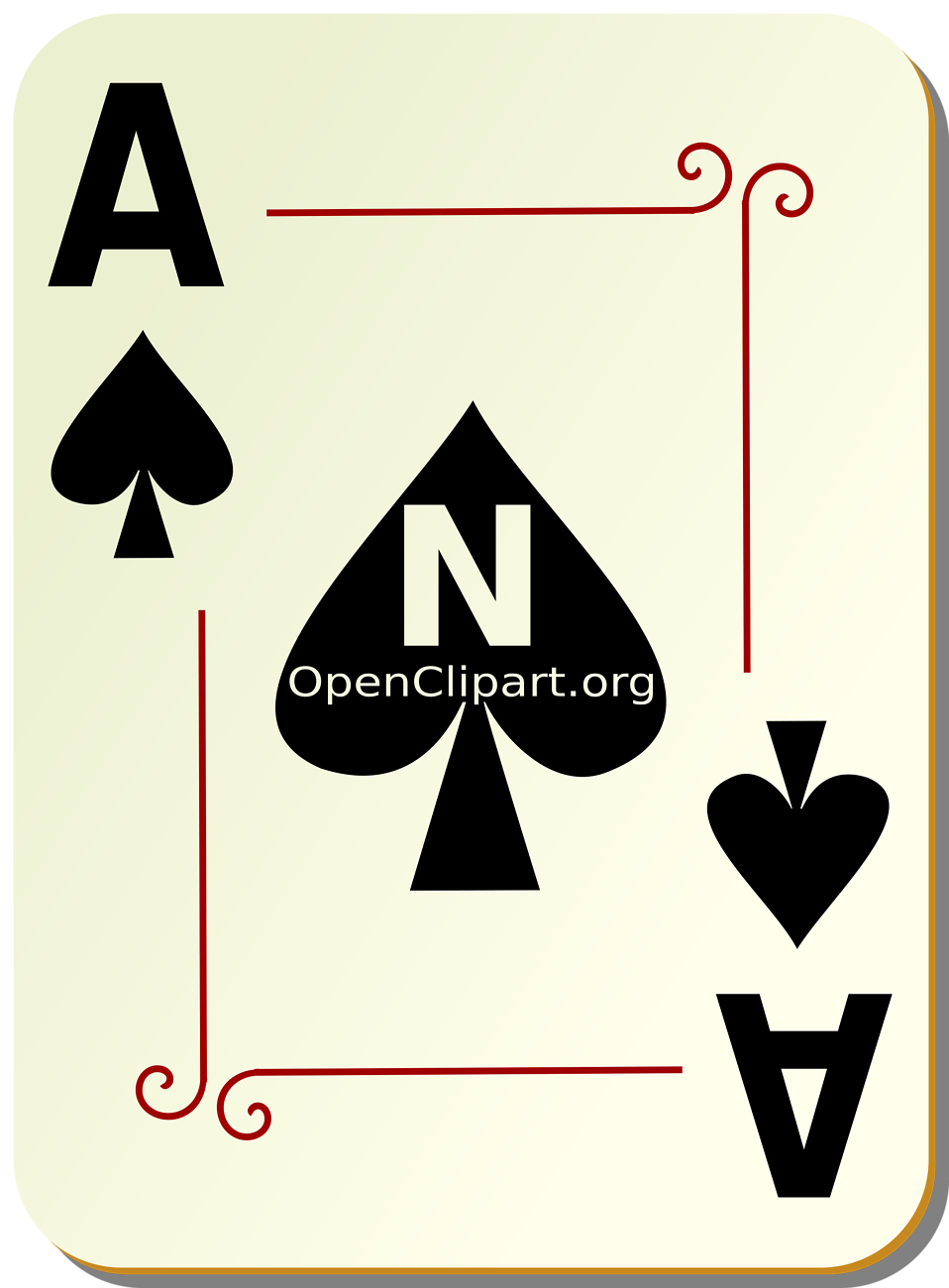 Illustration of an Ace of Spades playing card : Free Stock Photo