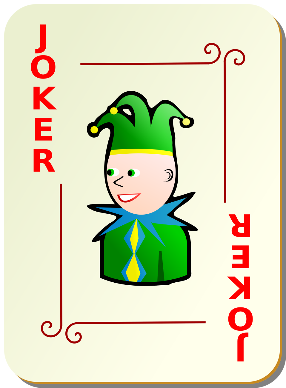 Illustration of a red joker playing card : Free Stock Photo