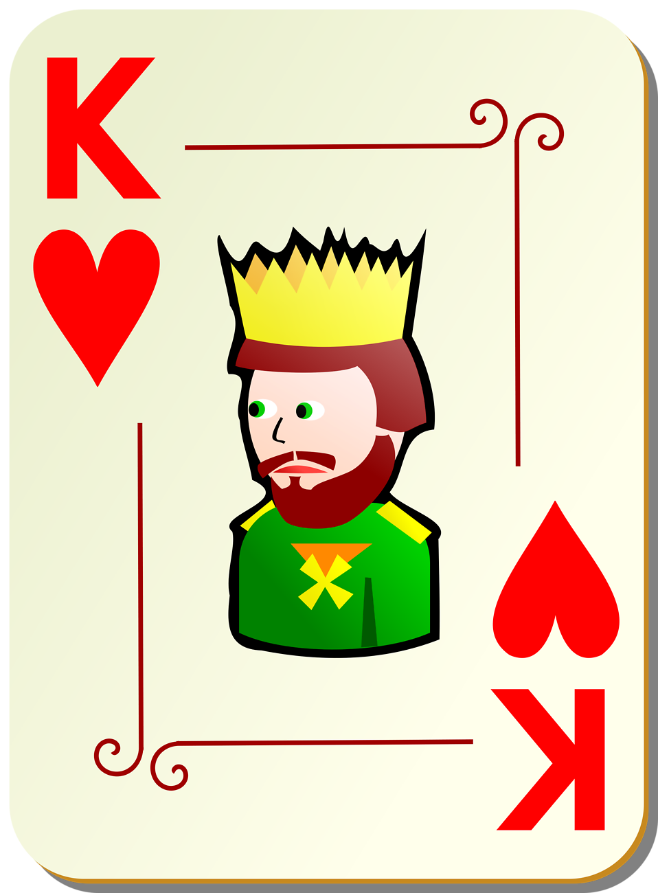Illustration of a King of Hearts playing card : Free Stock Photo