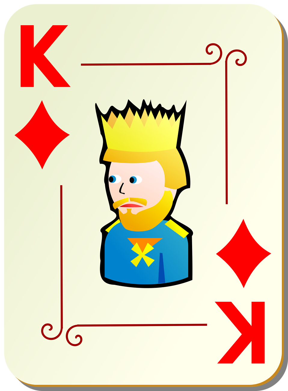 Illustration of a King of Diamonds playing card : Free Stock Photo