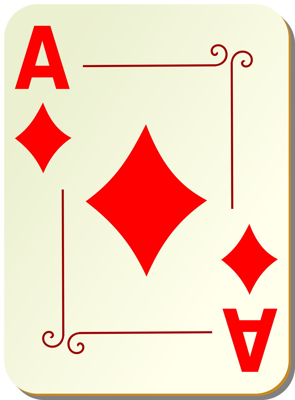 Illustration of an Ace of Diamonds playing card : Free Stock Photo