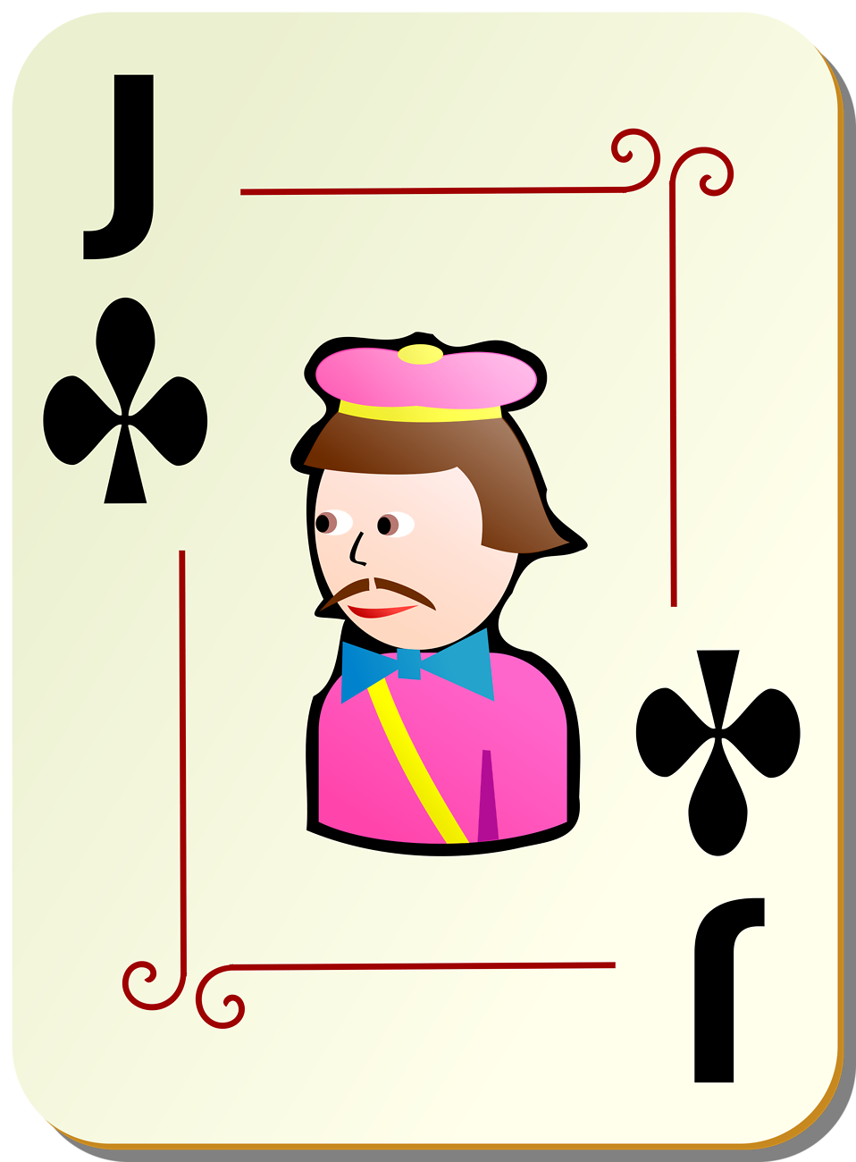 Illustration of a Jack of Clubs playing card : Free Stock Photo