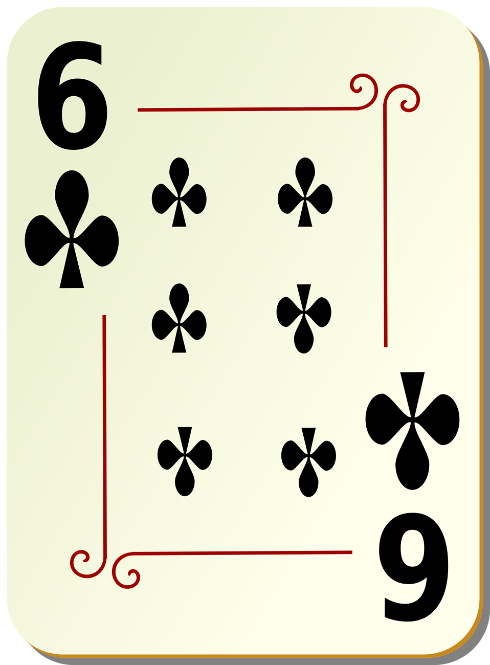Illustration of a Six of Clubs playing card : Free Stock Photo