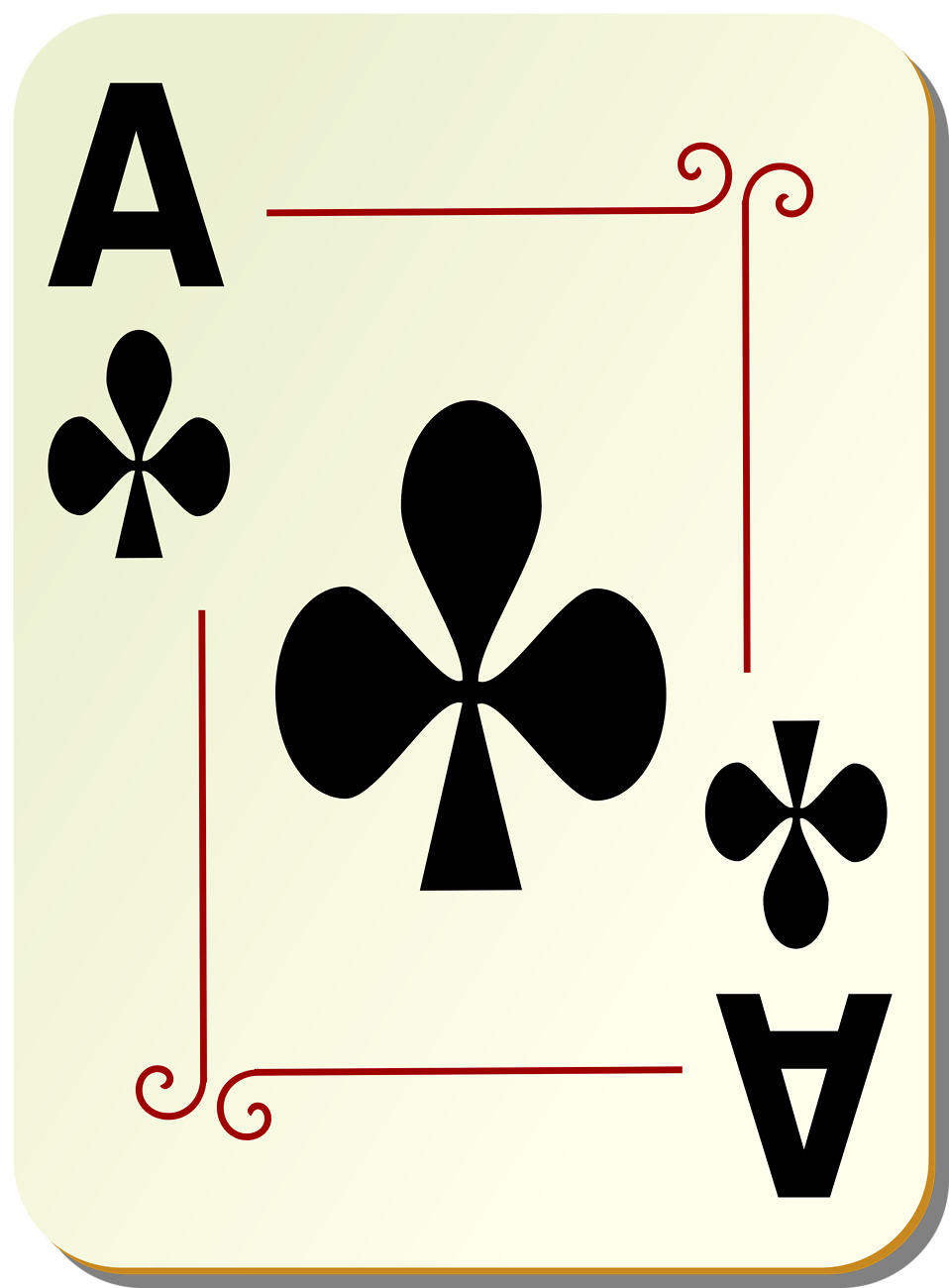Illustration of an Ace of Clubs playing card : Free Stock Photo