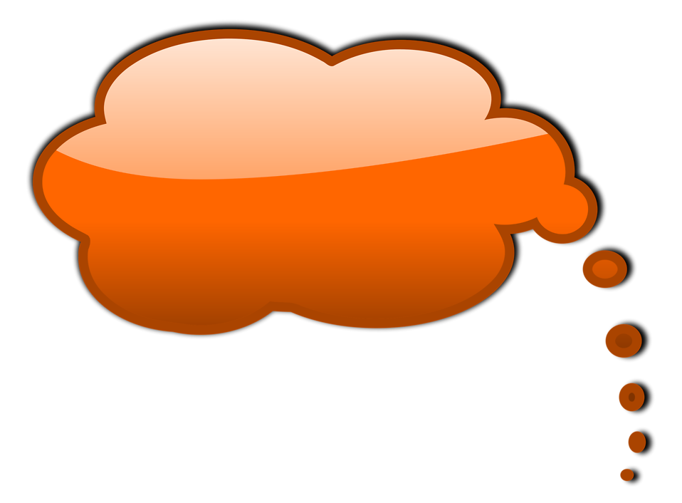 Illustration of an orange cartoon speech bubble : Free Stock Photo
