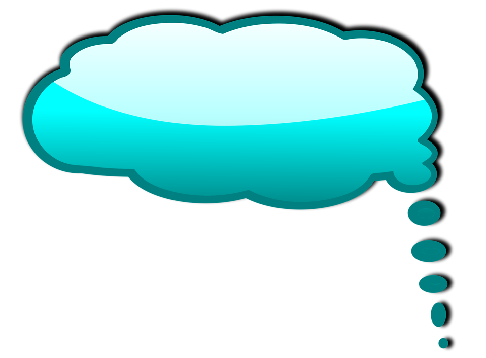 Illustration of a blue cartoon speech bubble : Free Stock Photo