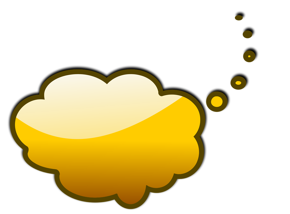 Illustration of a yellow cartoon speech bubble : Free Stock Photo