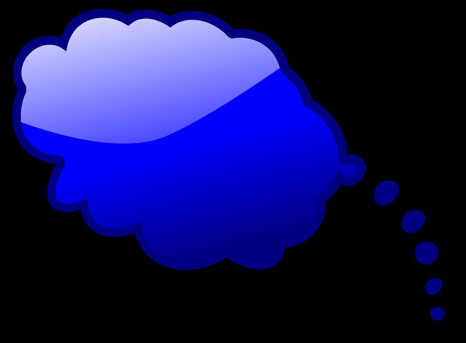 Illustration of a blue cartoon speech bubble : Free Stock Photo