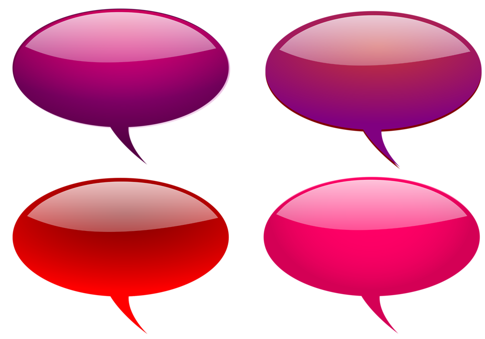 Collection of glossy speech bubbles : Free Stock Photo