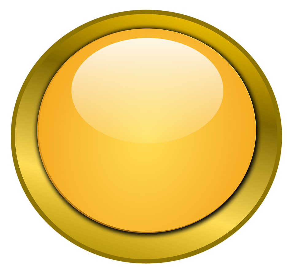Illustration of a blank glossy round button with a transparent background.