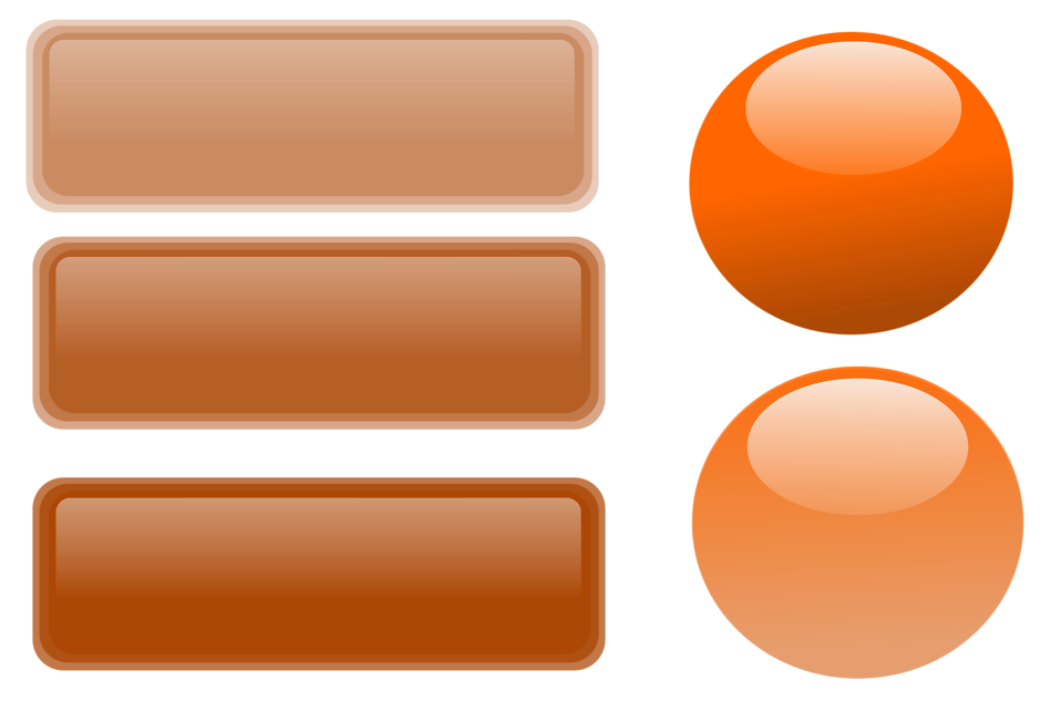 Illustration of a blank glossy buttons : Free Stock Photo