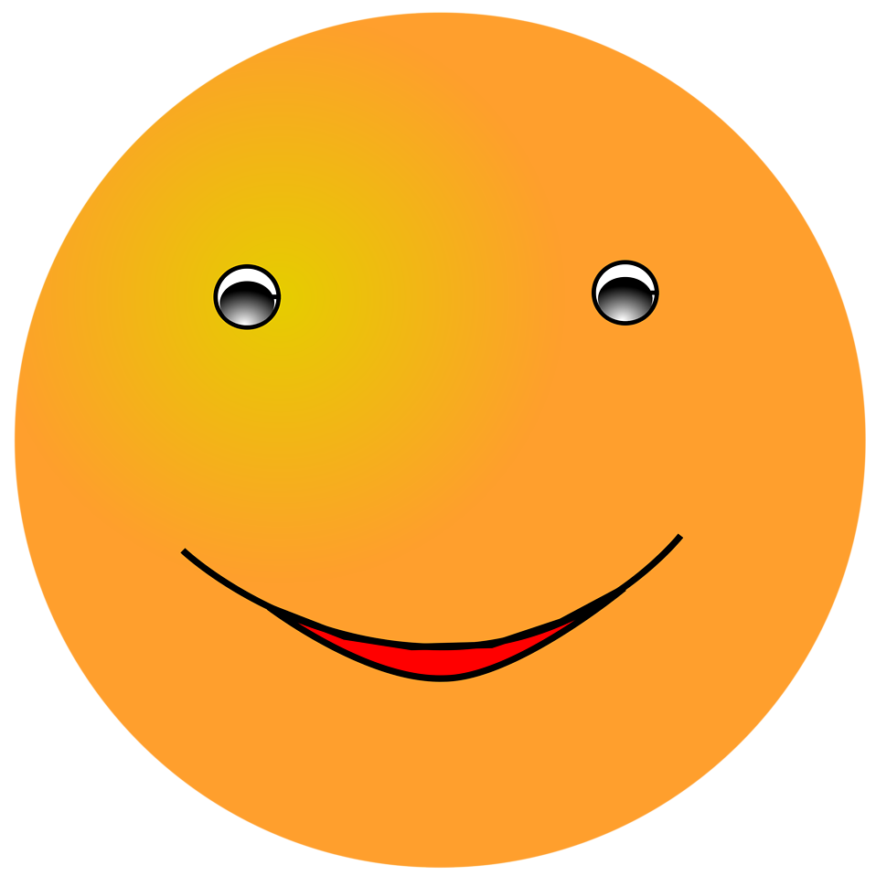 Illustration of an orange smiley face : Free Stock Photo
