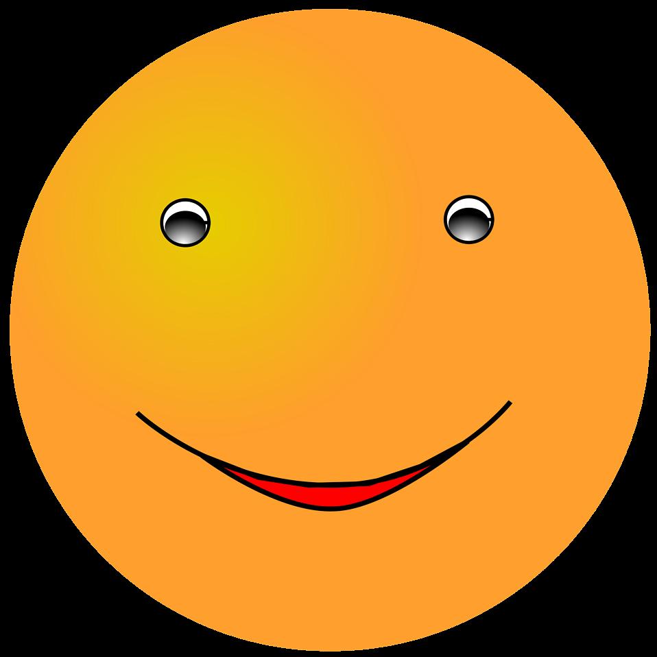 Illustration of an orange smiley face : Free Stock Photo
