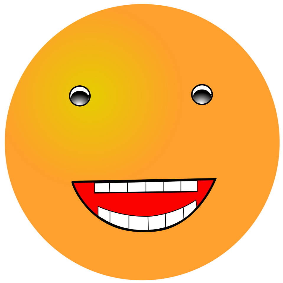 Smiley | Free Stock Photo | Illustration of an orange ...