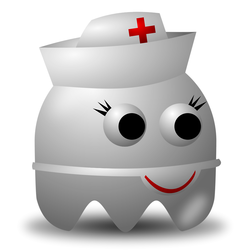 Illustration of an arcade styled nurse ghost : Free Stock Photo