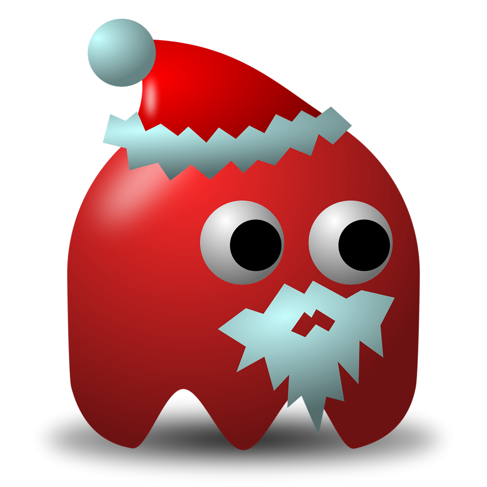 Illustration of an arcade styled santa claus ghost : Free Stock Photo