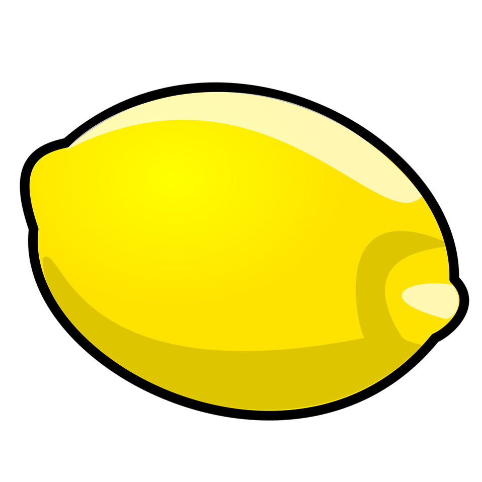 Illustration of a lemon : Free Stock Photo