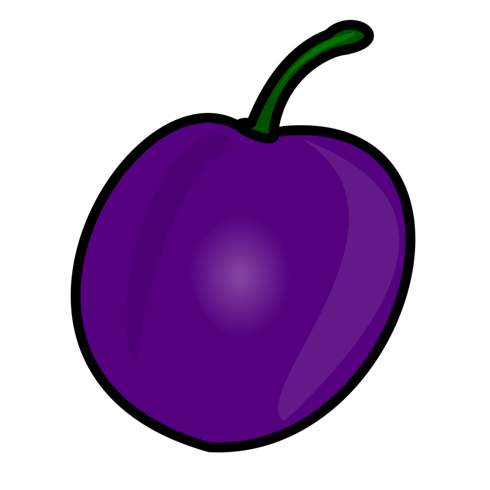 Illustration of a plum : Free Stock Photo