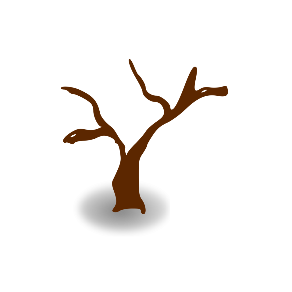 Illustration of a small cartoon tree with a transparent background.