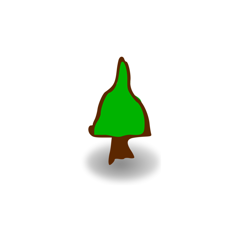 Illustration of a small cartoon tree : Free Stock Photo