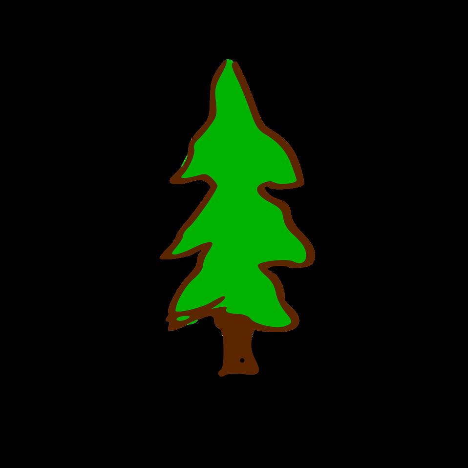 Illustration of a small cartoon tree : Free Stock Photo