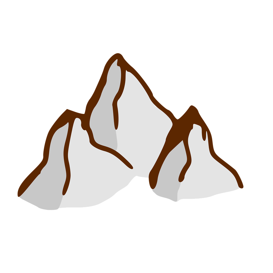 Illustration of a small cartoon mountain : Free Stock Photo