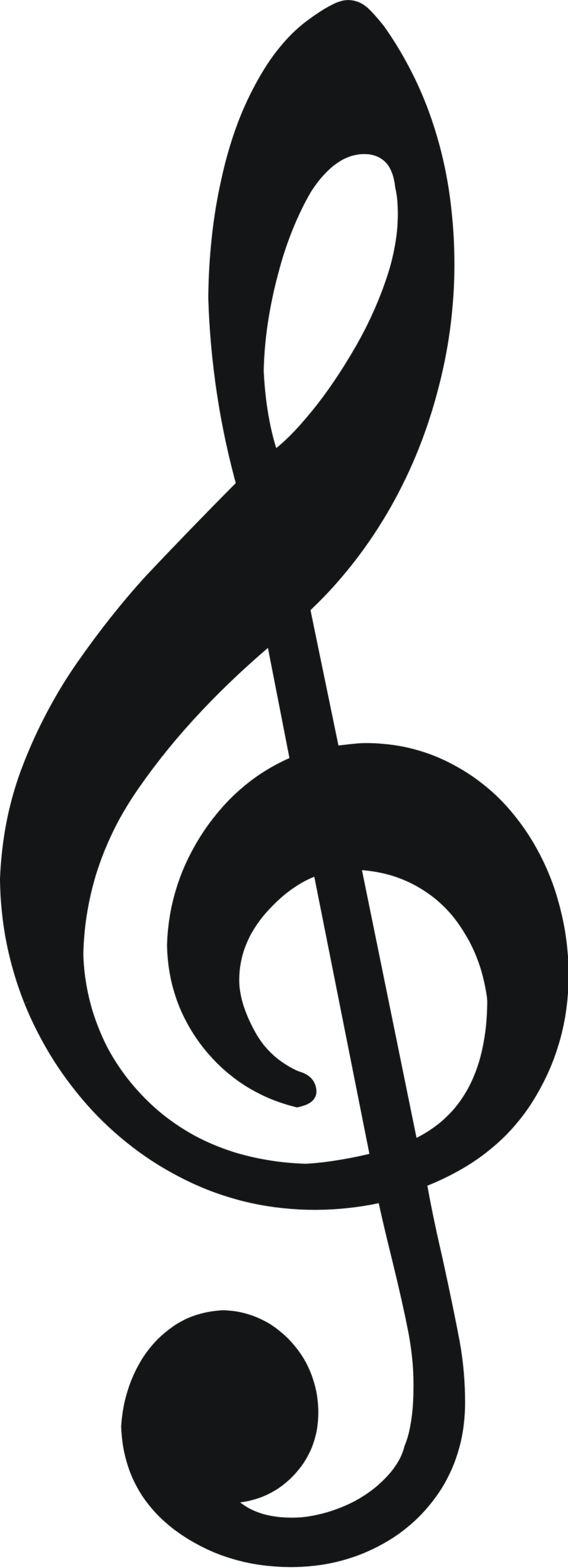 Illustration of a treble clef : Free Stock Photo