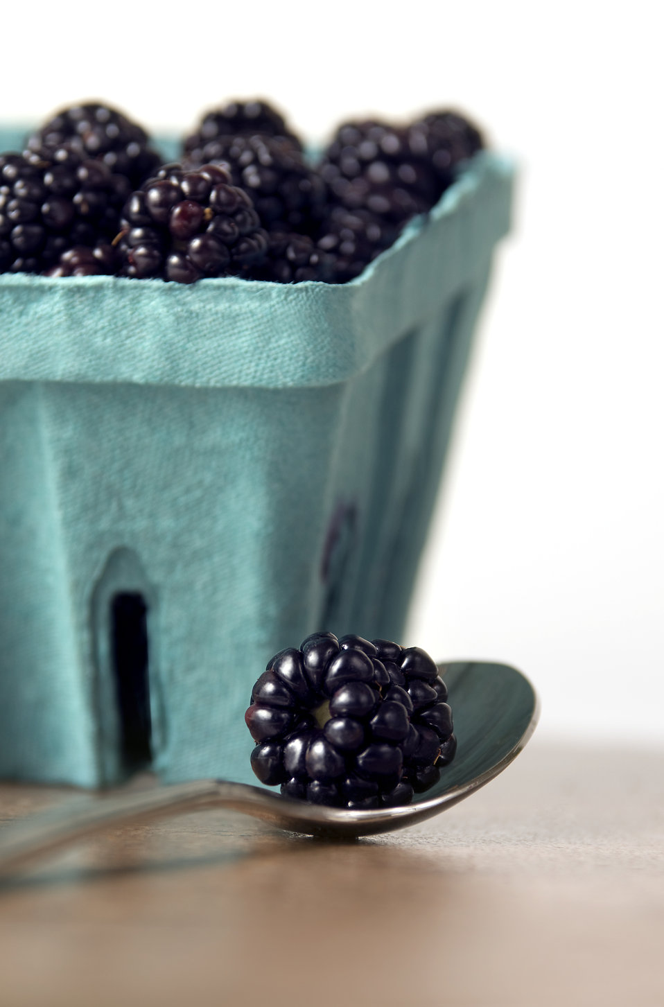 A container of blackberries : Free Stock Photo