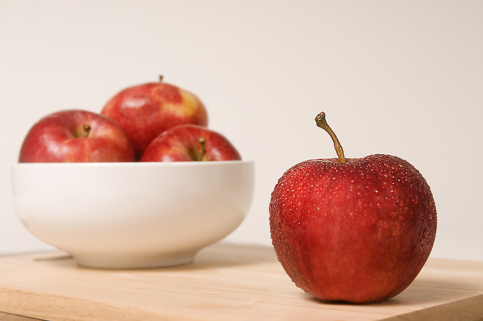 A bowl of Rome Beauty apples : Free Stock Photo